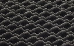 Black plastic insulating material Royalty Free Stock Images