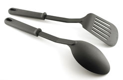 Black plastic kitchenware Royalty Free Stock Images
