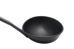 Black plastic ladle Stock Photo