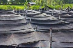 Black plastic mesh shade. Stock Photos