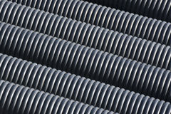 Black Plastic Pipes Royalty Free Stock Images