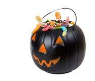 Black plastic pumpkin Stock Image