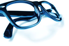 Black plastic rimmed eyeglasses Royalty Free Stock Image