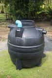 Black plastic septic tank Royalty Free Stock Photo