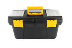 Black plastic tool box Royalty Free Stock Photos