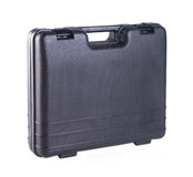 Black plastic tool box on the background Royalty Free Stock Photos