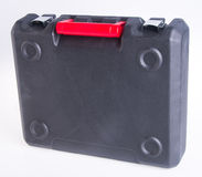 Black plastic tool box on the background Stock Photography