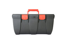 Black plastic tool box isolated Stock Images