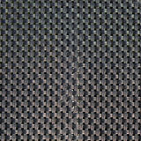 Black plastic weave as woven background texture Stock Photo