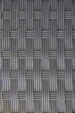 Black plastic woven with patterns. Royalty Free Stock Photos