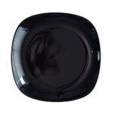 Black plate Royalty Free Stock Photo