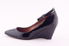 A black platform shoes Royalty Free Stock Image