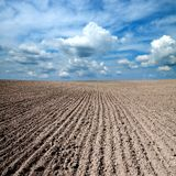 Black ploughed field Stock Image