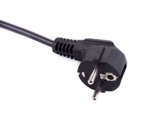 Black plug. Royalty Free Stock Photo