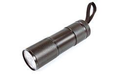 Black pocket flashlight torch Stock Photos