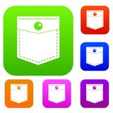 Black pocket symbol set color collection Royalty Free Stock Photography