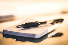 Black Point Pen On White Paper Royalty Free Stock Images