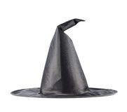 Black pointed cone shaped hat Royalty Free Stock Image