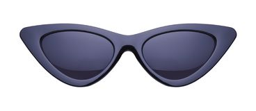Black Pointed Sun Glasses stock photography