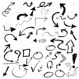 Black points set doodle vector Royalty Free Stock Photos