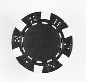 Black poker chip. With numbers 1-6 on white background Royalty Free Stock Photo