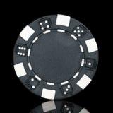 Black poker chip Stock Images