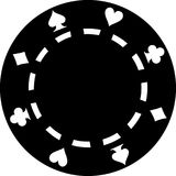 Black poker chip. Gambling vector royalty free illustration