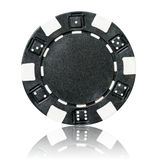 Black poker chip Stock Image