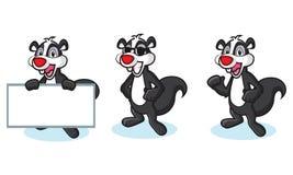 Black Polecat Mascot happy Stock Photos