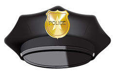 Black Police Cap Stock Photography