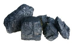 Black Polish coal Royalty Free Stock Images
