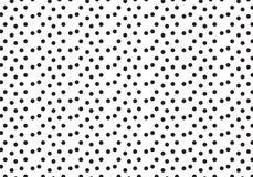 Black polka dots pattern background Stock Photo