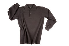 Black polo shirt long sleeve Stock Photo