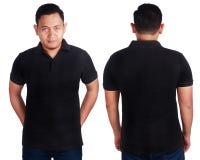 Black Polo Shirt Mockup Template stock image