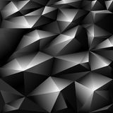 Black polygonal abstract background Stock Photo