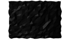 Black Polygonal Background Flag Loop stock video