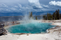 Black Pool hot spring. In West Thumb Geyser Basin. Yellowstone National Park Stock Images