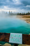 Black Pool - West Thumb Geyser Basin early morning Stock Photo
