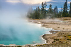 Black Pool - West Thumb Geyser Basin early morning Royalty Free Stock Images