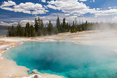 Black Pool at West Thumb Geyser Basin Stock Images