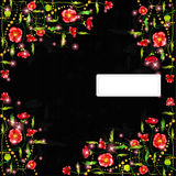Black poppy color background banner Stock Photography