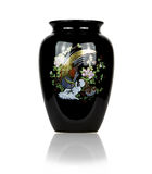 Black porcelain vase,Isolated Royalty Free Stock Photos