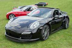 Black Porsche 911 Turbo Front Royalty Free Stock Photos