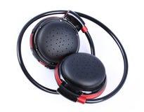 Black portable bluetooth headset stock photos