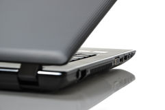 Black portable computer Royalty Free Stock Photos