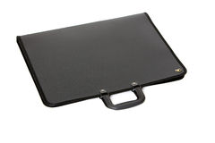 Black portfolio. Picture of black portfolio case on white background Royalty Free Stock Image