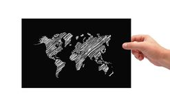 Black poster with map Royalty Free Stock Photos