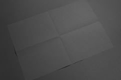 Black A3 Poster Mock-Up - Creased. A photo of an A3 Poster Mock-Up - Creased Stock Images