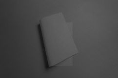 Black A3 Poster Mock-Up - Curved. A photo of an A3 Poster Mock-Up - Curved Royalty Free Stock Photos