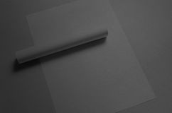 Black A3 Poster Mock-Up. A photo of an A3 Poster Mock-Up Royalty Free Stock Photos